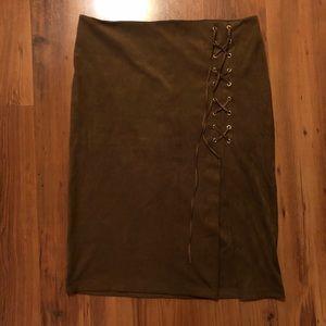 Brown Skirt - size 12